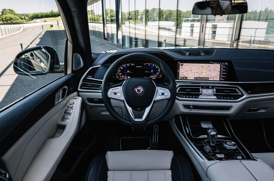 Alpina XB7 2020 road test review - dashboard