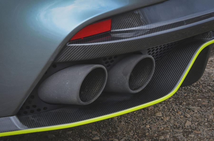 Aston Martin Rapide AMR 2019 first drive review - exhaust