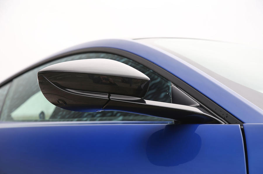 Aston Martin Vantage 2018 review wing mirrors