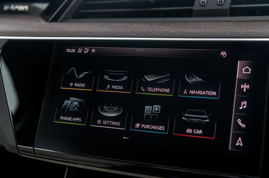 Audi E-tron 55 Quattro 2019 road test review - infotainment