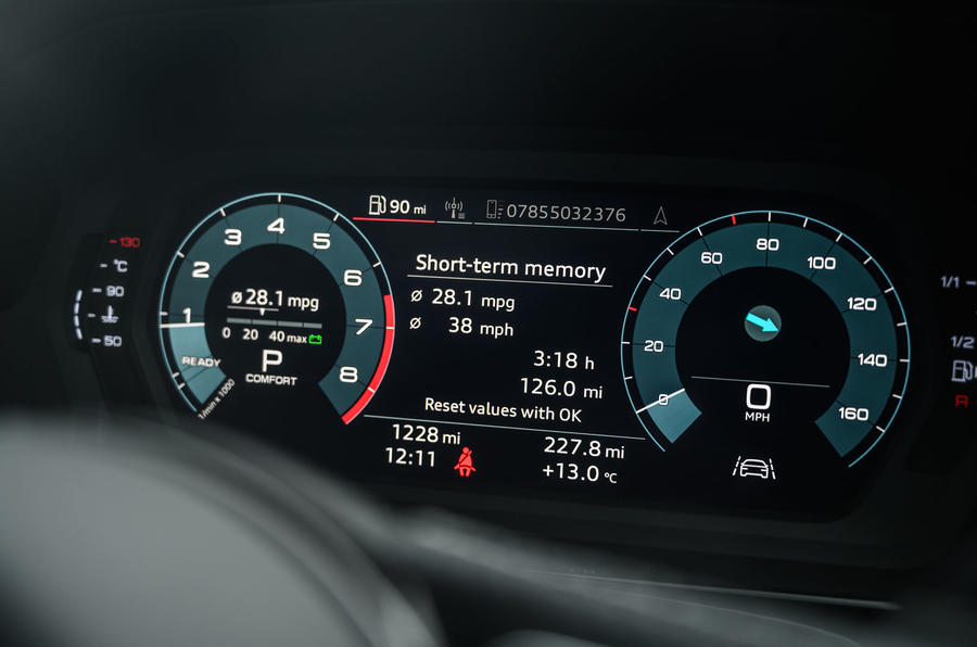 Audi S3 Sportback 2020 road test review - instruments
