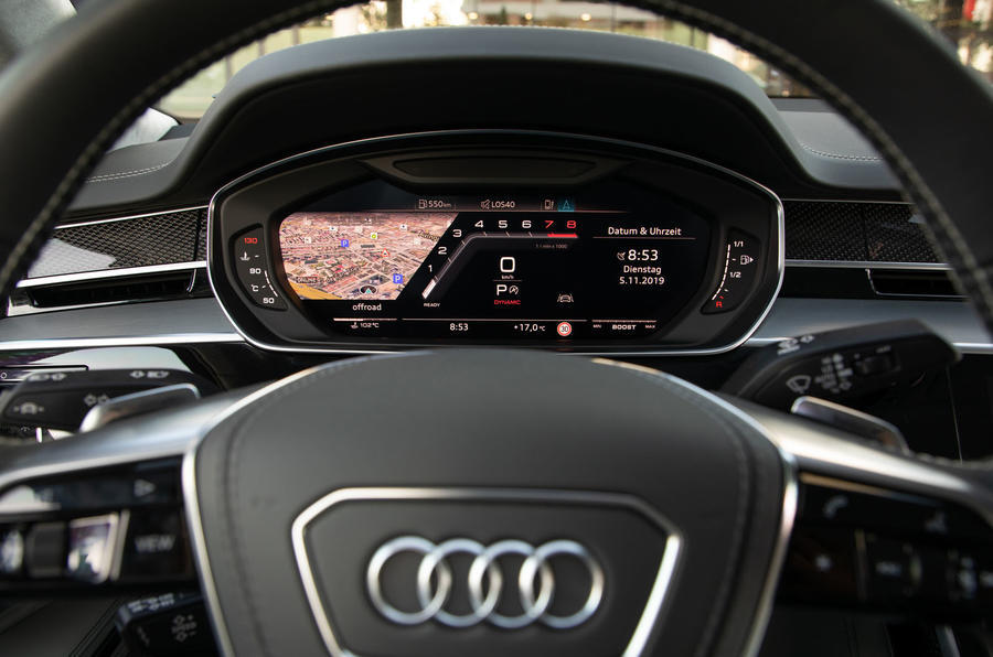 Audi S8 2020 road test review - virtual cockpit