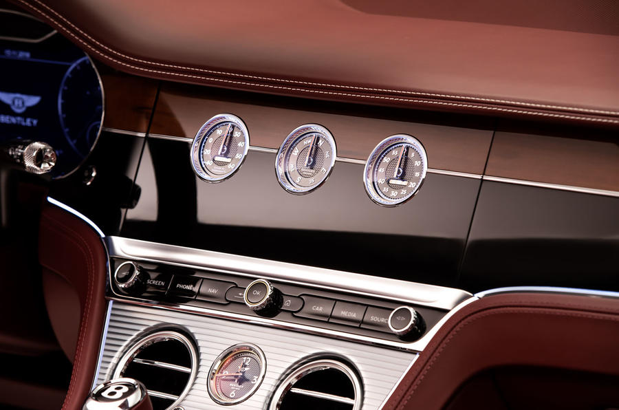Bentley Continental GTC 2019 first drive review - clocks