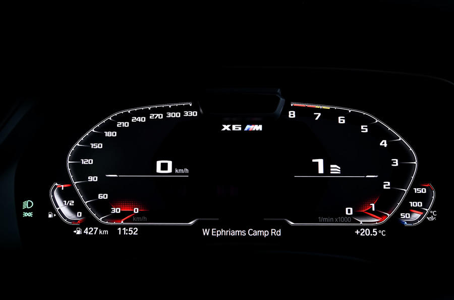 BMW X6 M Competition 2020 road test review - instruments
