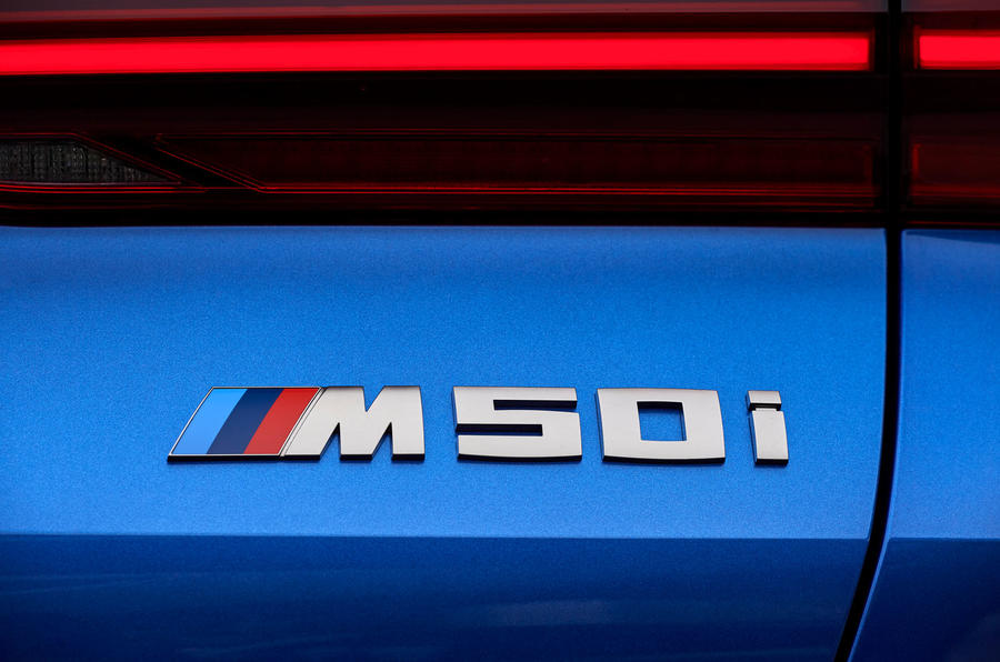 BMW X6 M50i 2019 road test review - rear badge