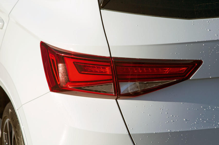 Cupra Ateca 2019 road test review - rear lights