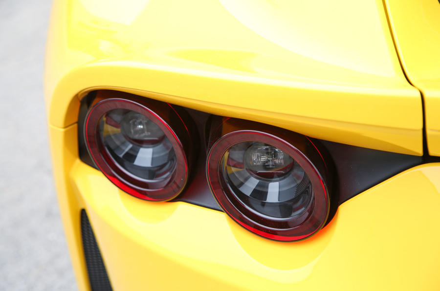 Ferrari 812 Superfast 2018 road test review rear lights