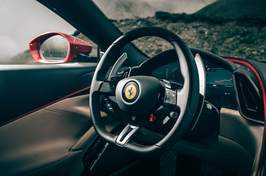 Ferrari Roma 2020 road test review - dashboard