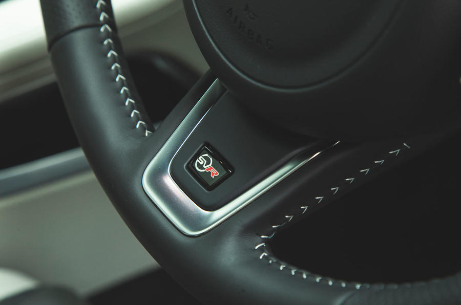 Jaguar F-Pace SVR 2019 road test review - steering wheel