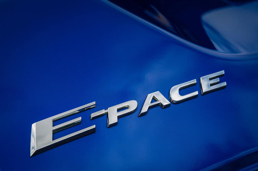 Jaguar E-Pace review model logo