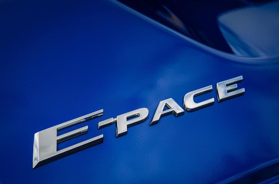 Jaguar E-Pace review model logo