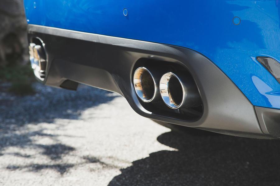 Jaguar F-Pace SVR 2019 first drive review - exhausts