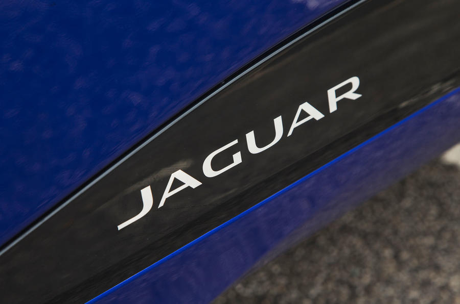 Jaguar I-Pace 2018 road test review side sill logo