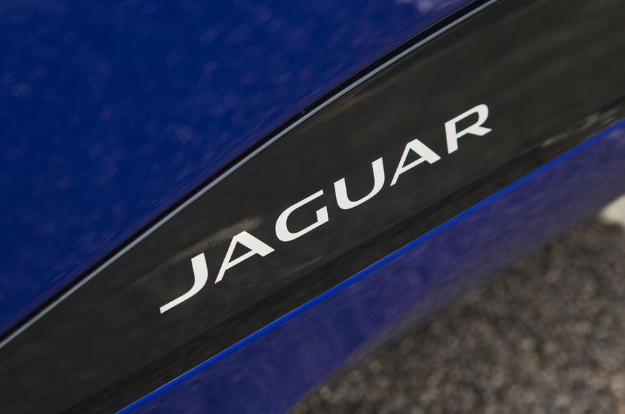 Jaguar I-Pace 2018 road test review side sill logo