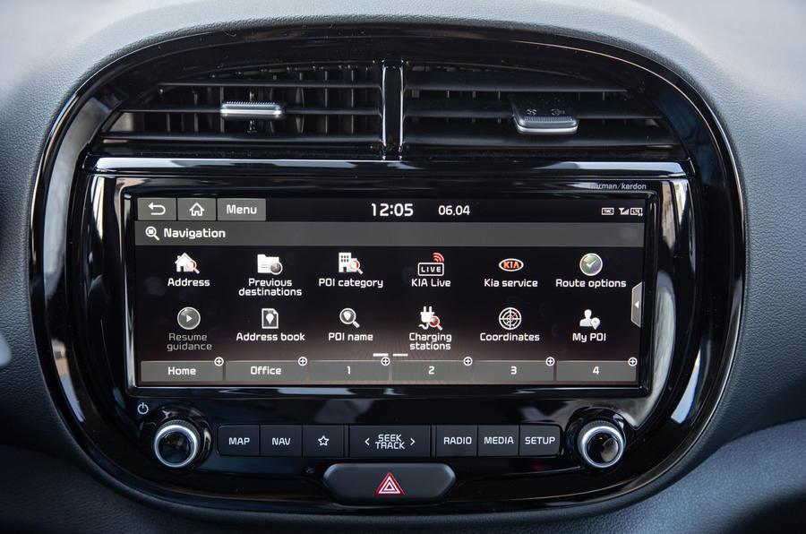 Kia Soul EV 2019 European first drive - infotainment