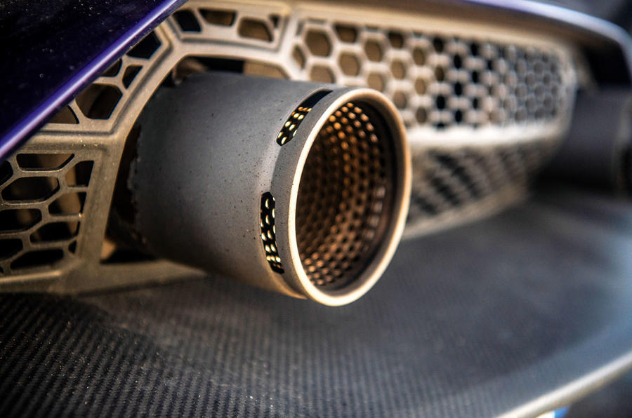 Lamborghini Aventador SVJ 2019 road test review - exhaust tips