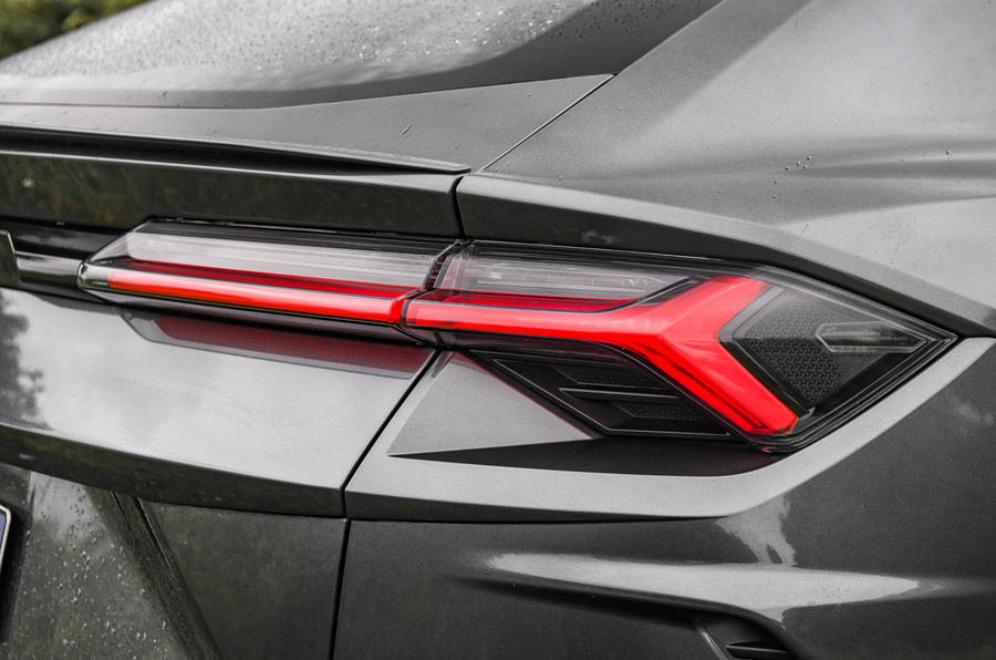 Lamborghini Urus 2019 road test review - rear lights