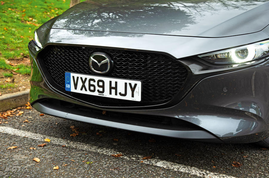 Mazda 3 Skyactiv-X 2019 road test review - front bumper