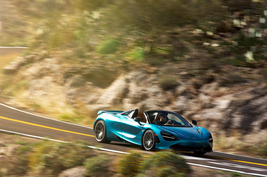 McLaren 720S Spider 2019 road test review - on the road front