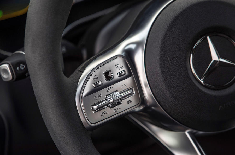 Mercedes-AMG C43 Coupe 2018 road test review steering wheel controls