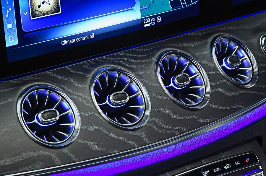 Mercedes-Benz CLS 400d 2018 review rifled air vents