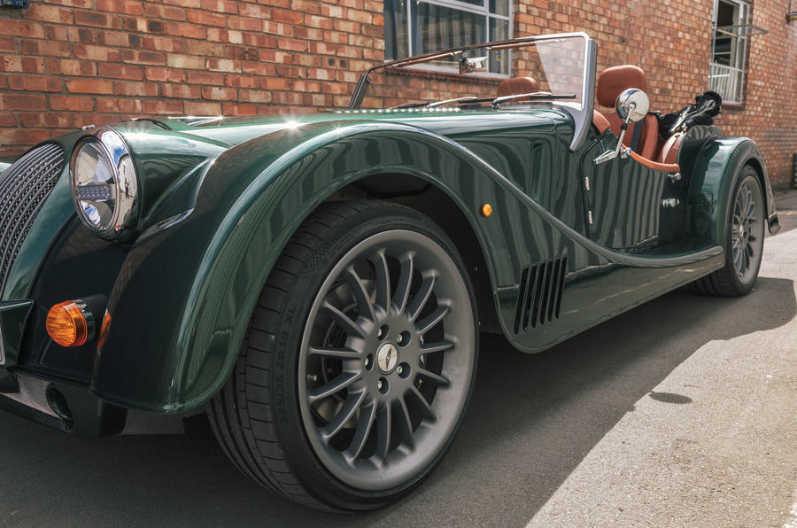 Morgan Plus Six 2019 road test review - alloy wheels