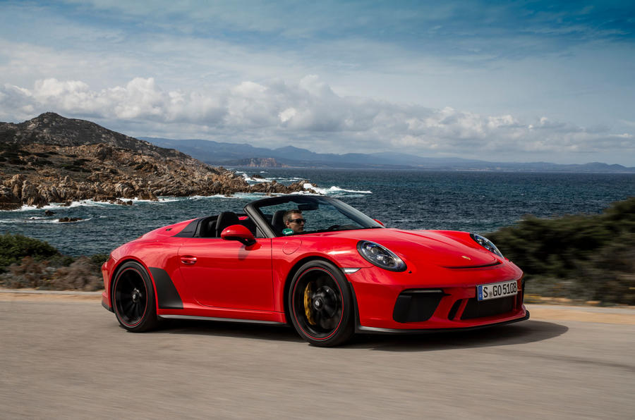 Porsche 911 Speedster 2019 review - on the road rear