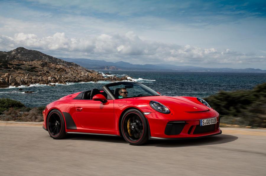 Porsche 911 Speedster 2019 review - on the road rear