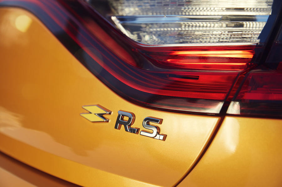Renault Megane RS 280 2018 road test review badging