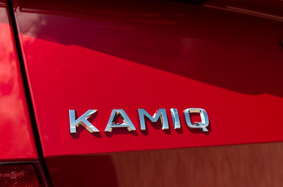 Skoda Kamiq 2019 road test review - rear badge
