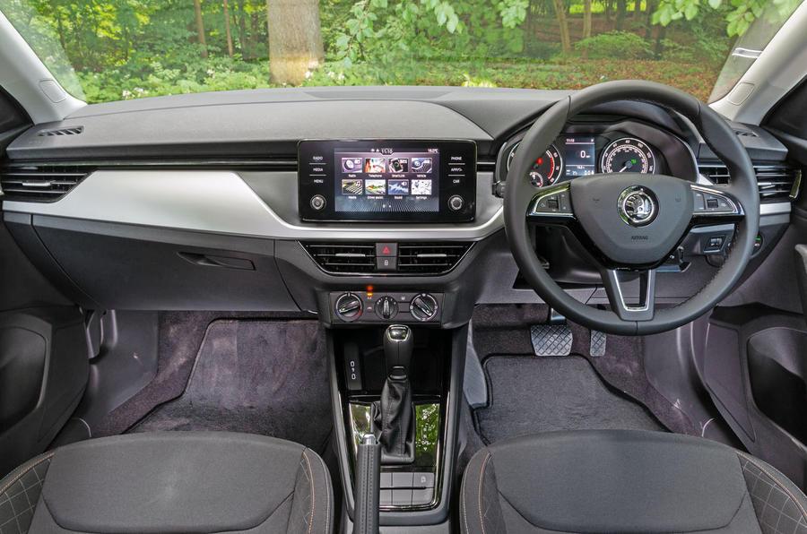 Skoda Scala 2019 road test review - dashboard