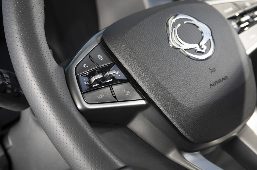 Ssangyong Korando 2019 road test review - steering wheel