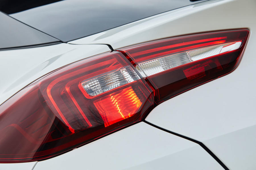 Vauxhall Grandland X Hybrid4 2020 road test review - daytime running rear lights
