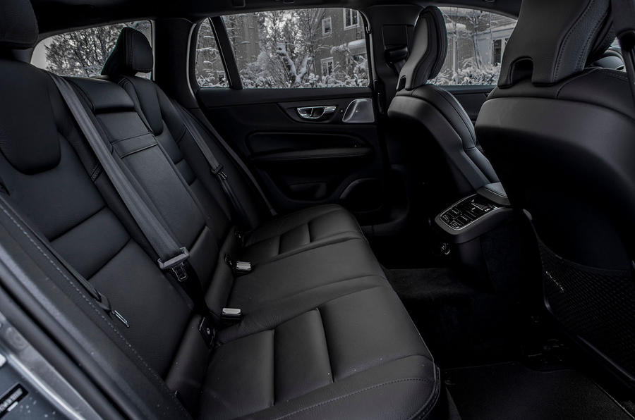 Volvo V60 Cross Country 2019 road test review - rear seats