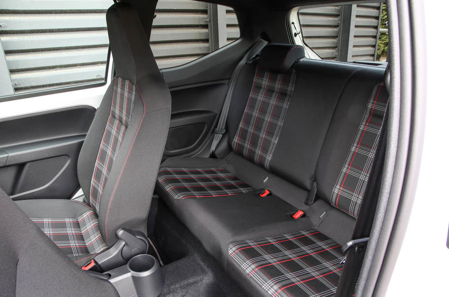 Volkswagen Up GTI 2018 review rear seats