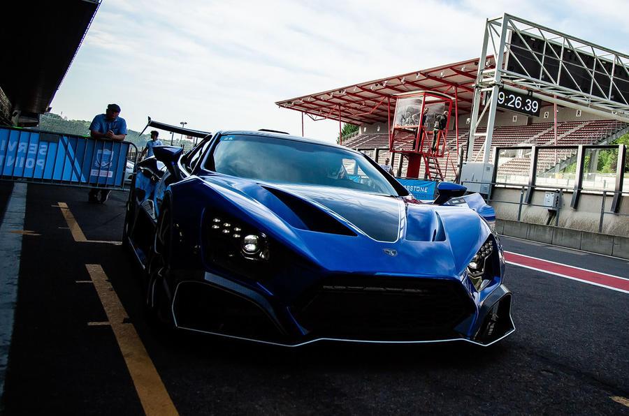 Zenvo TSR-S 2020 road test review - pit lane