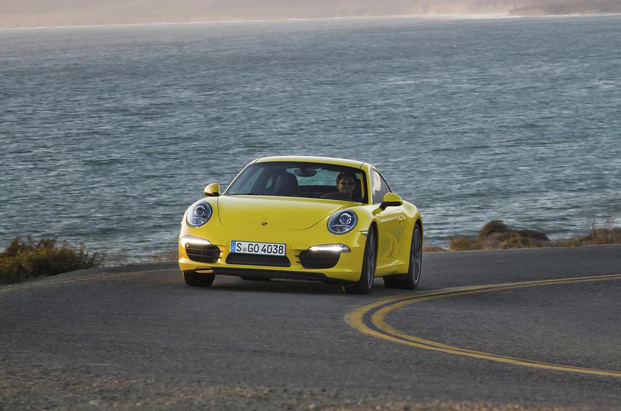 Porsche 911 Carrera S cornering
