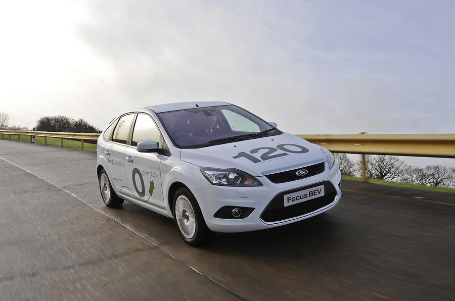 Ford Focus BEV on track
