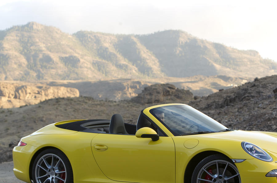 Porsche 911 Carrera S Cabriolet roof down