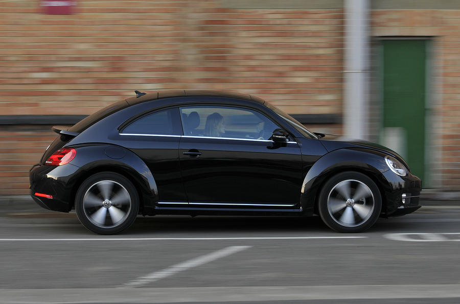 VW Beetle in town