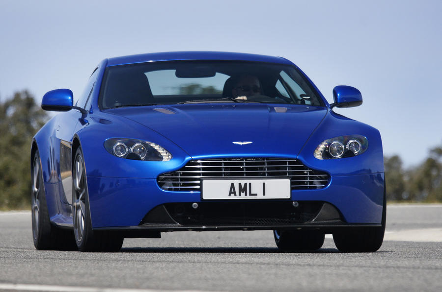 Aston Martin V8 Vantage S hard cornering