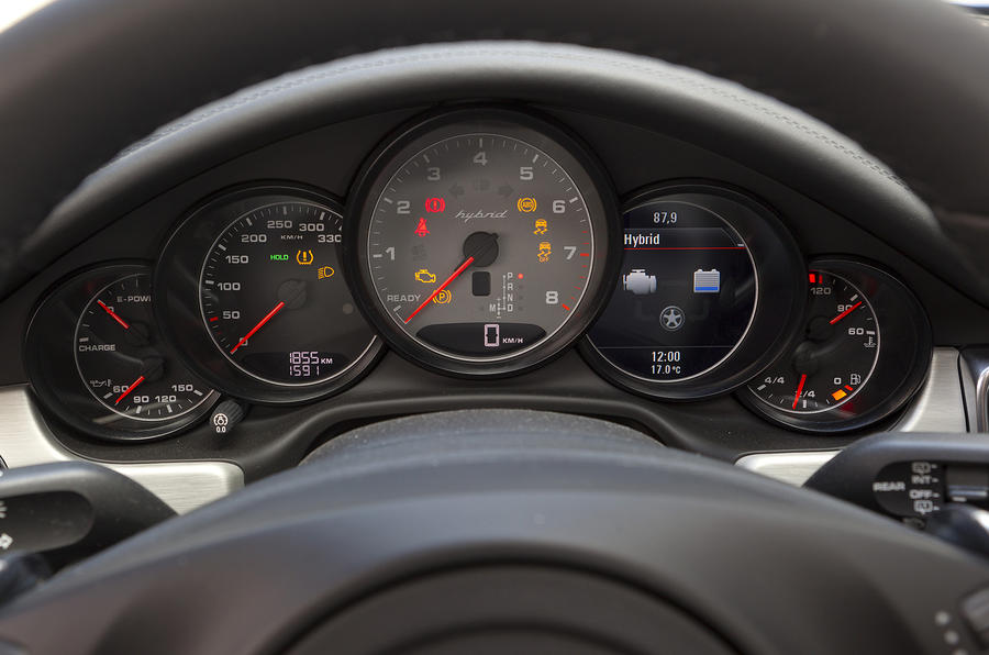 Porsche Panamera instrument cluster