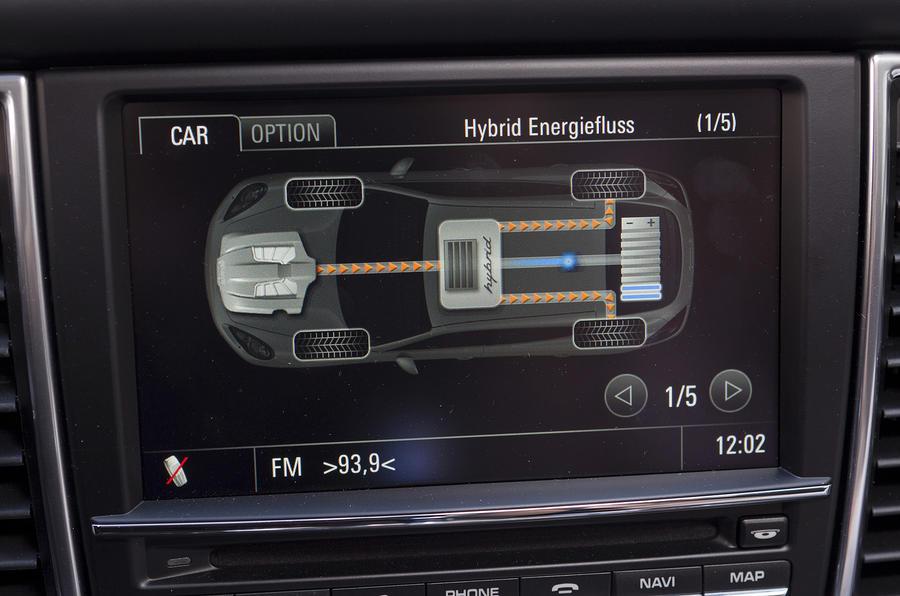 Porsche Panamera hybrid powertrain readout