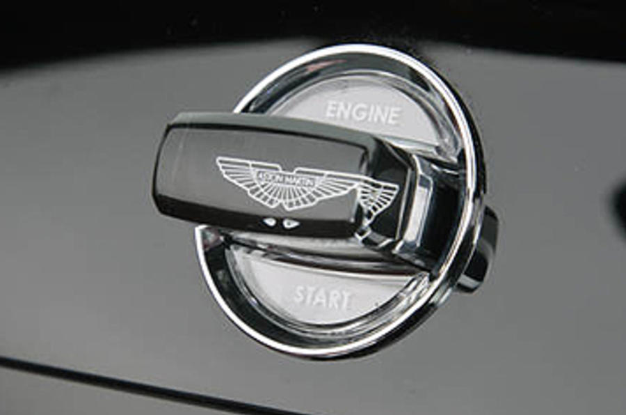 Aston Martin DBS ignition button