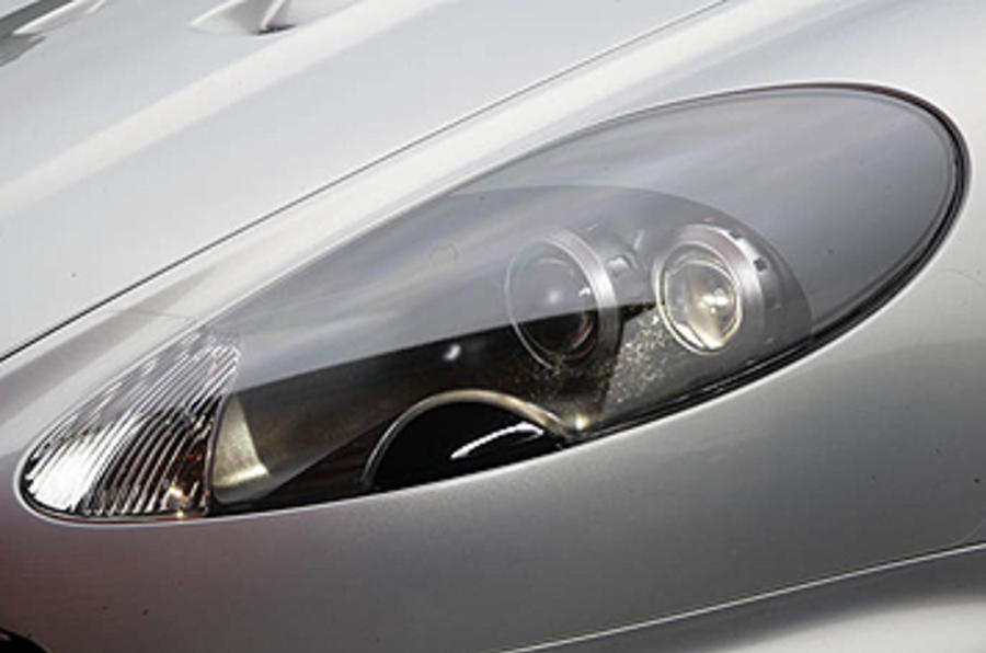 Aston Martin DBS headlights