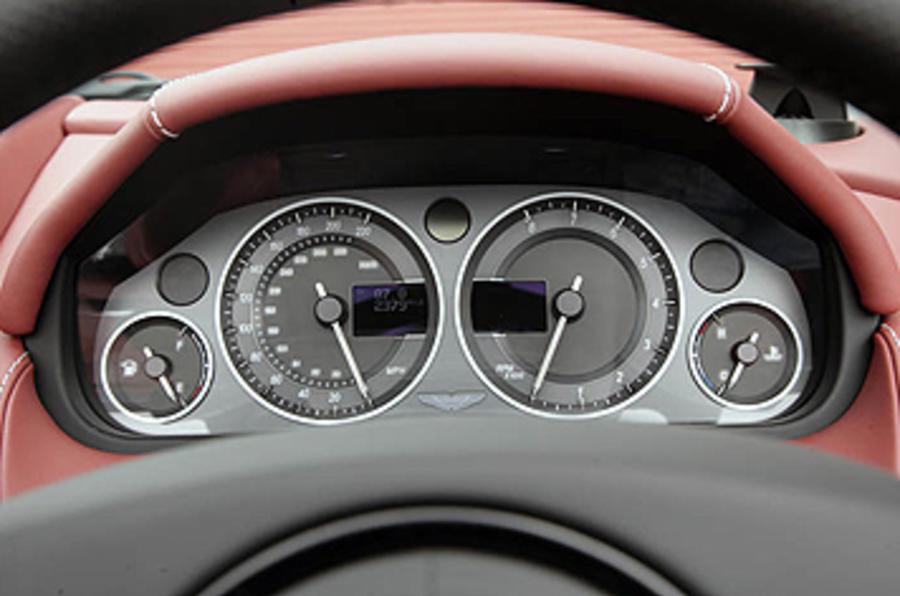 Aston Martin DBS instrument cluster