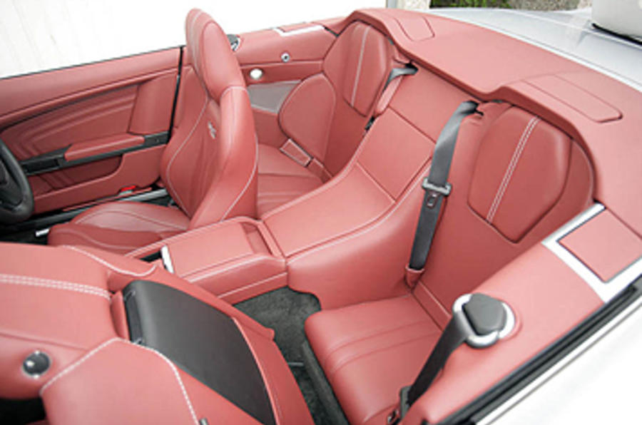 Aston Martin DBS rear seats