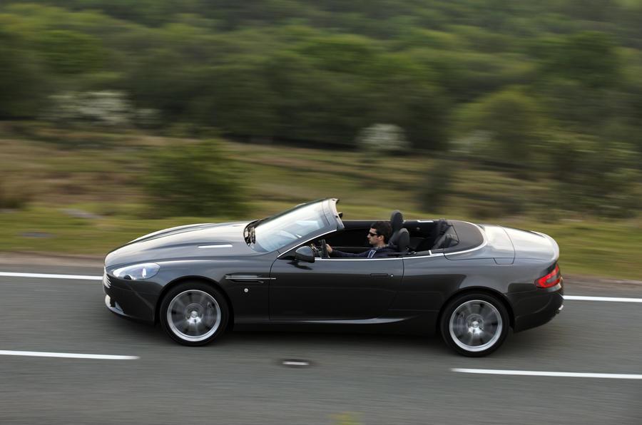 Aston Martin DB9 Volante roof down