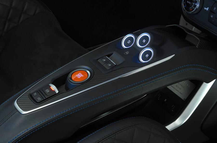 Alpine A110 2018 road test review centre console