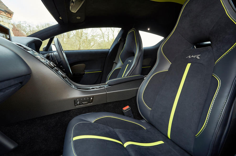 Aston Martin Rapide AMR 2019 first drive review - front seats